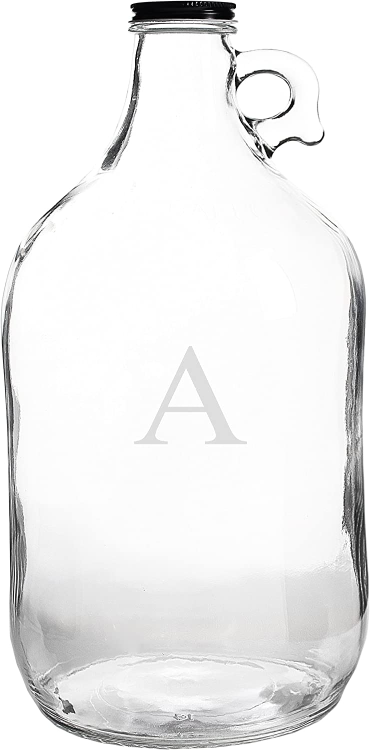 Cathys Concepts Personalized Craft Beer Growler Letter G