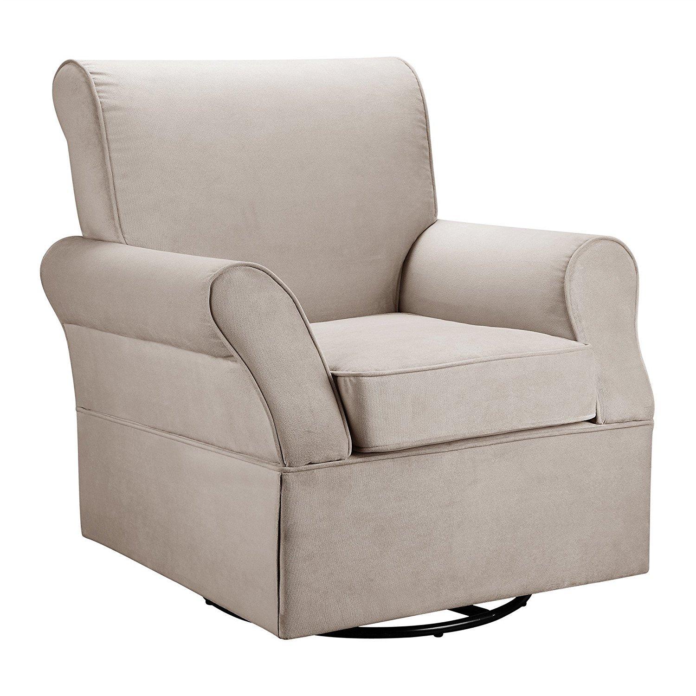Baby Relax Kelcie Swivel Glider and Ottoman, Comet Coffee Dorel Home Furnishings WM108C-SGO