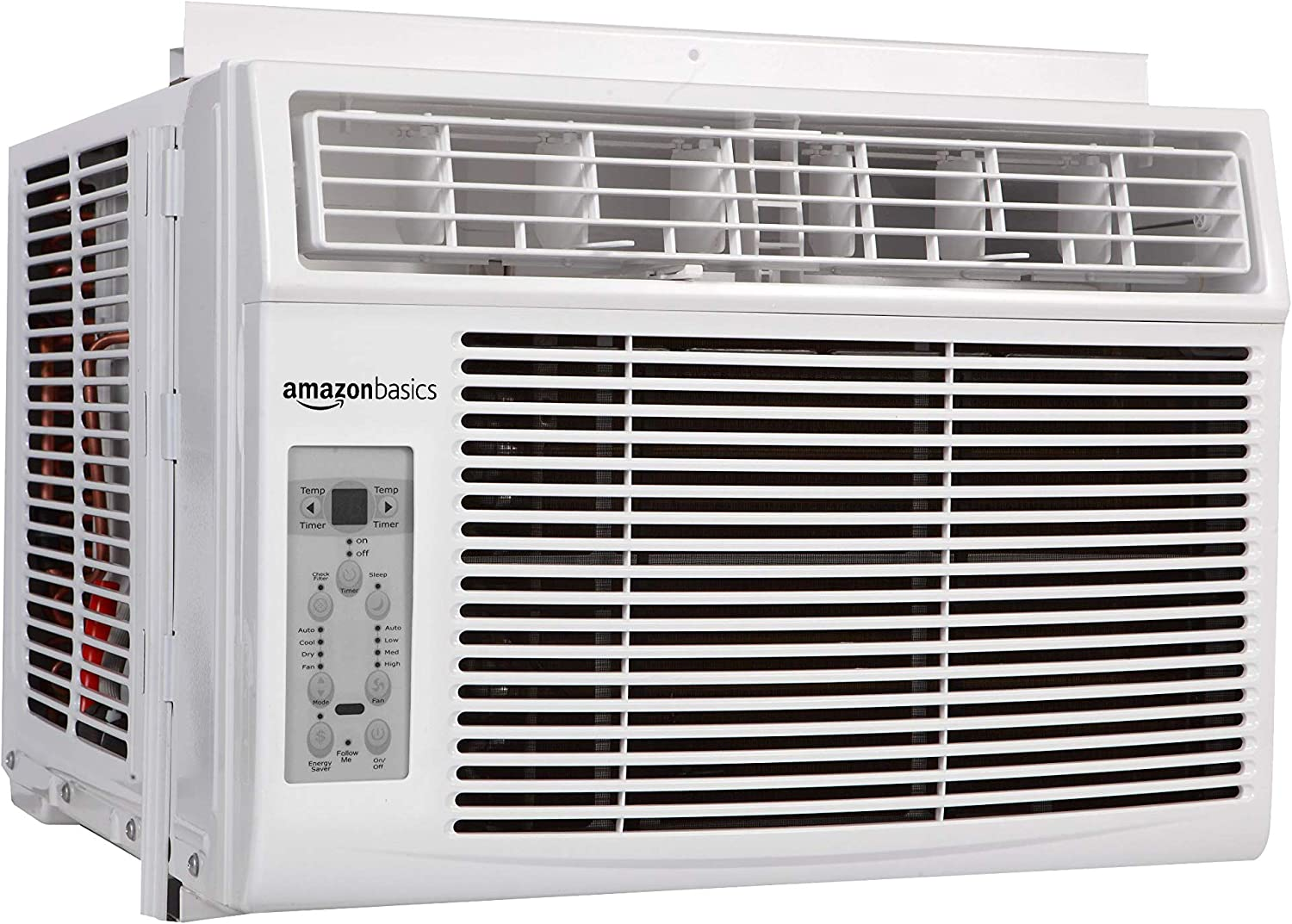 AmazonBasics Window-Mounted Air Conditioner with Remote - Cools 450 Square Feet, 12000 BTU, AC Unit