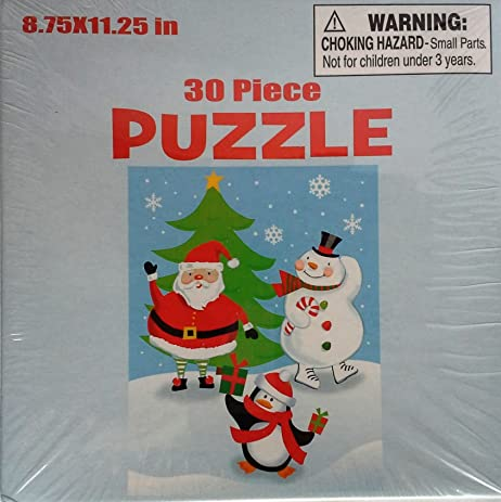 santa snowman penguin 30 piece holiday puzzle by wal mart
