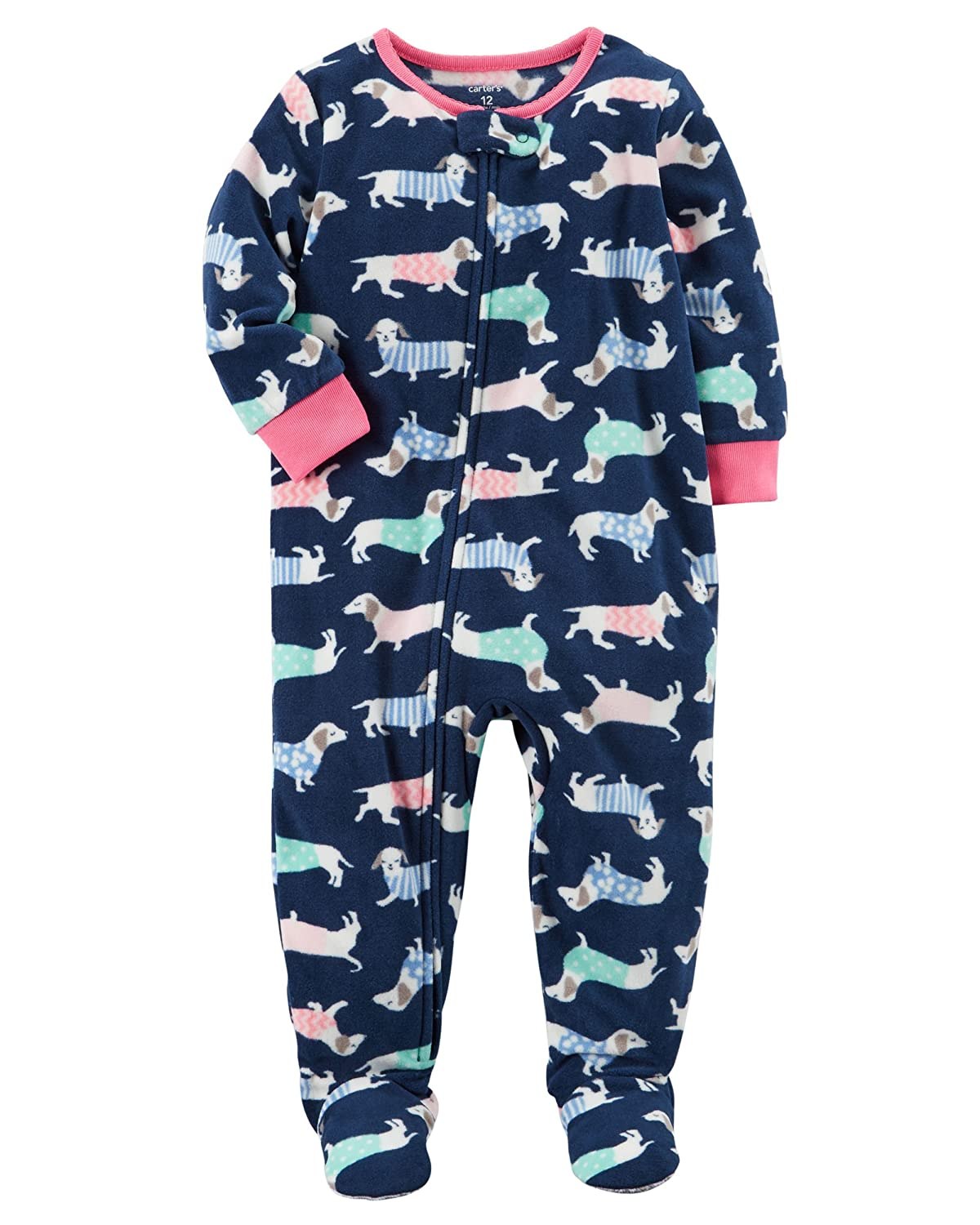 Carters Big Girls Footed Microfleece Pjs Sleeper Pajamas