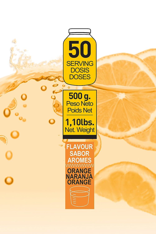 BCAAŽS + GLUTAMINA 500 GR naranja - Aminoácidos de Cadena Ramificada + Glutamina: Amazon.es: Salud y cuidado personal