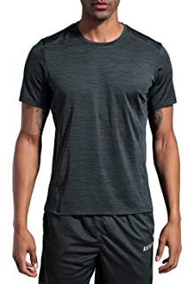 3a876572e LUWELL PRO Men's Running Workout Shirts Short Sleeve T-Shirt Running  Fitness Shirts