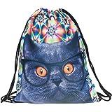 Fullprint Men's Women's Kids PE bag Teenage Drawstring Bag Shoulder School Backpack Rucksack Handbag String Travel Gym