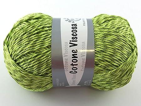 Hilos italianos algodón viscosa 100 g efecto seda: Amazon.es: Hogar