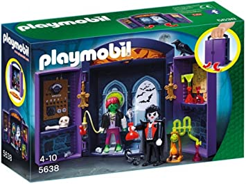 Playmobil Halloween Quick.Playmobil Haunted House Play Box