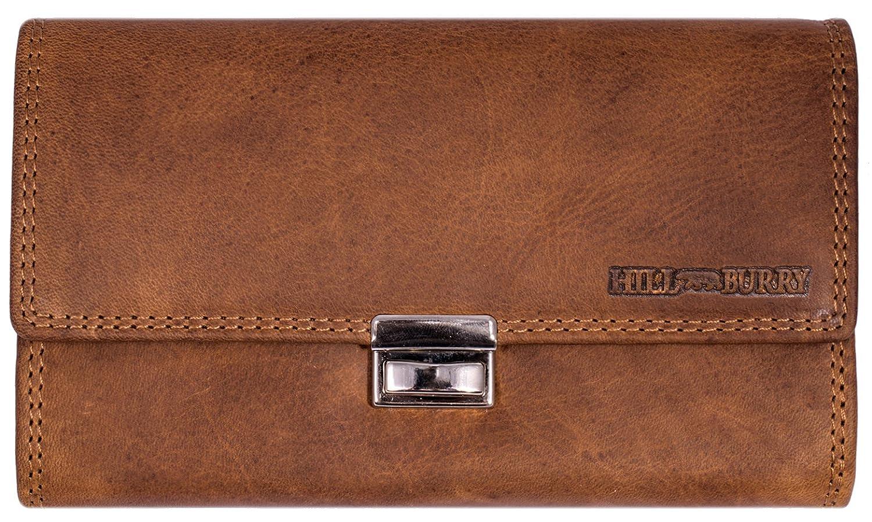 Hill Burry Portefeuille pour serveur chauffeur de taxi | porte-monnaie en cuir véritable de première qualité | Serveur Porte-monnaie en cuir de qualité | porte-cartes pour - Paysage (Marron) SBHB210