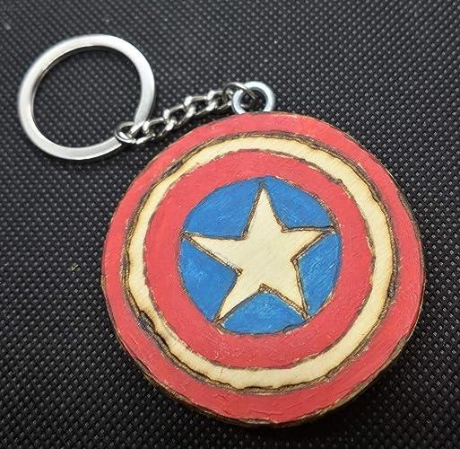Llavero Capitán América: Amazon.es: Handmade