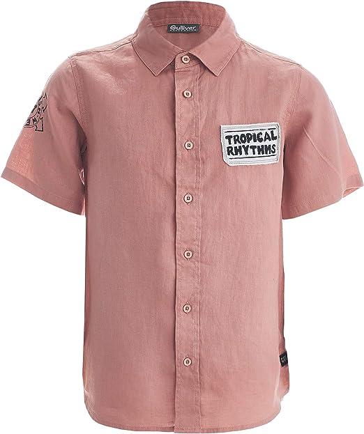 GULLIVER - Camisa de manga corta para niño, color rosa, para 8-13 años, 134-164 cm: Amazon.es: Ropa y accesorios