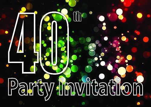 40 años Reversible Invitaciones de la fiesta de cumpleaños ...