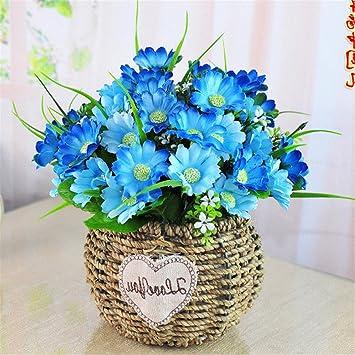 Dreamingces Kunstliche Blumen Geflochtene Korbe Blaue Blume