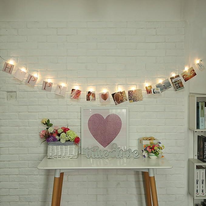 Amazon.com: Acfun – Guirnalda de clips de fotos, luces LED ...