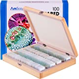 AmScope PS100A Prepared Microscope Slide Set for Basic Biological Science Education, 100 Slides, Set A, Includes Fitted…