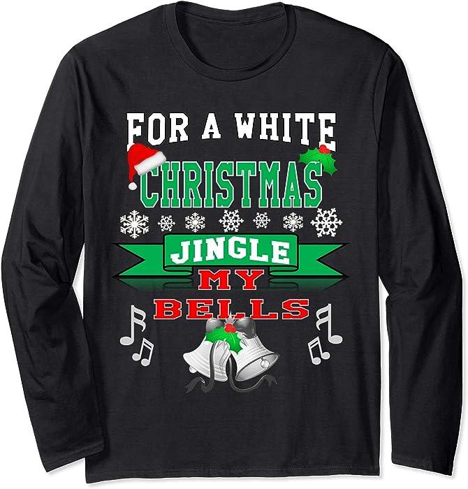 3dbd3c52 Amazon.com: Unisex Mens Jingle my Bells Funny Adult Christmas shirt Small  Black: Clothing