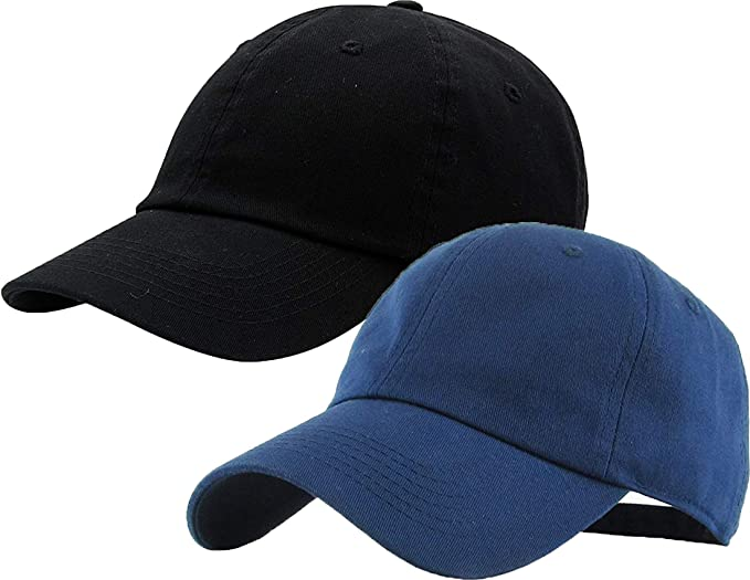 Mens Ladies Light Blue Low Profile Plain Baseball Cap Sports Leisure Unisex