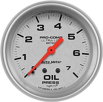 Auto Meter 4311 Ultra-Lite Mechanical Fuel Pressure Gauge