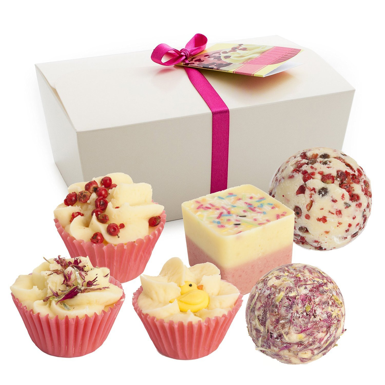 Brubaker Cosmetic Set bombe da bagno Sweet Berries Set da 6 pezzi fatti a mano e vegane