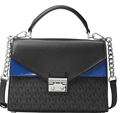 ad601933ae Image Unavailable. Image not available for. Color  MICHAEL Michael Kors  Sloan Medium Signature Leather Satchel ...