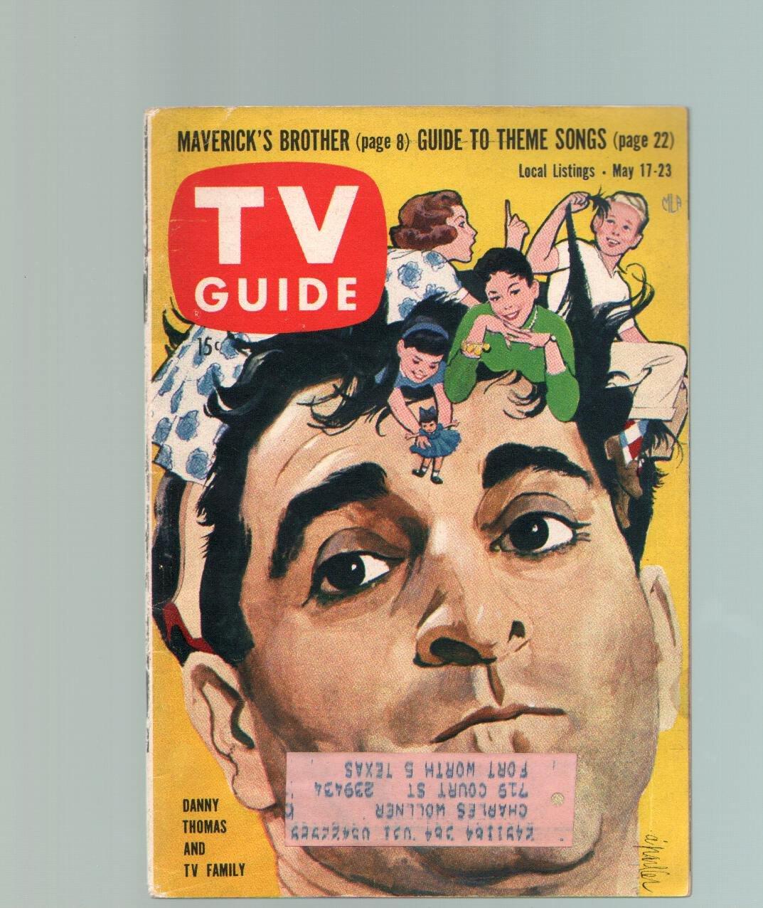 TV Guide-May 17-23-1958-Danny Thomas-Dallas-Ft  Worth