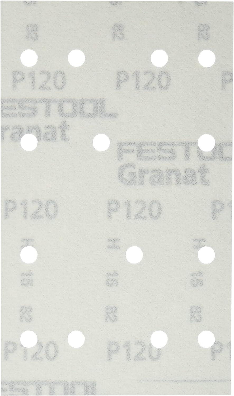 Pack of 100 Granat Abrasives Festool 497120 P120 Grit