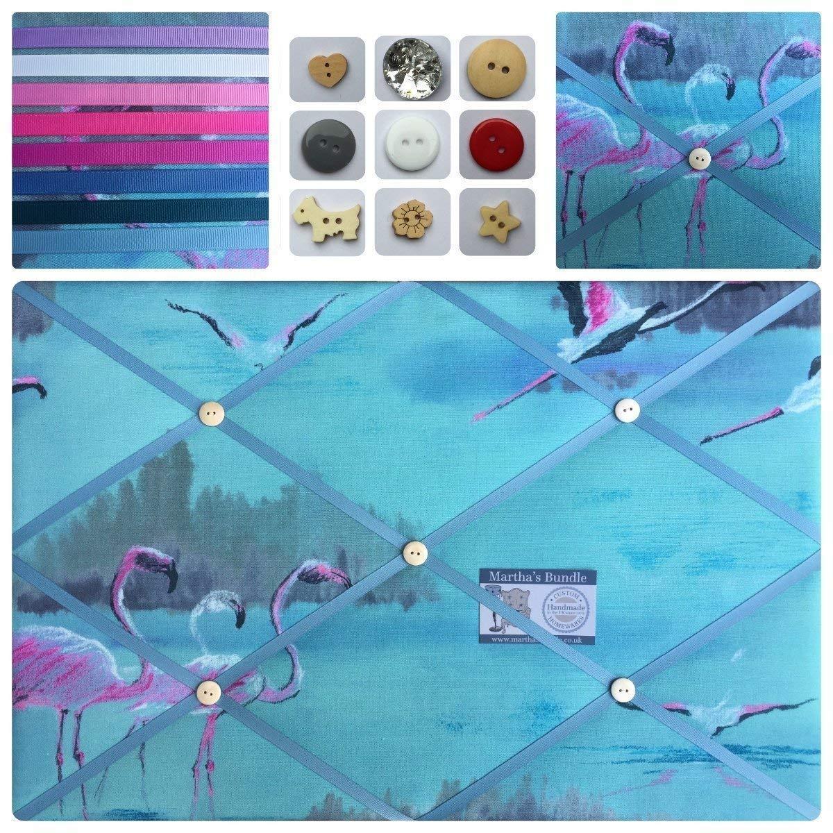 Flamingo Fabric Pin//Memo//Notice//cork Board Edinburgh Weavers 7 SIZES Handmade