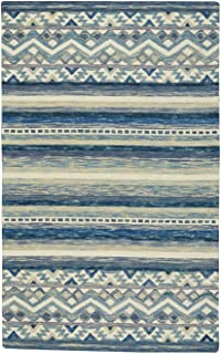 "product image for Capel Shakta-Kelim Blue 3' 6"" x 5' 6"" Rectangle Hand Tufted Rug"