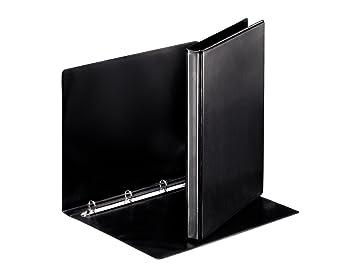 Esselte - Archivador de 4 anillas redondas (A4, 16 mm), color negro: Amazon.es: Oficina y papelería