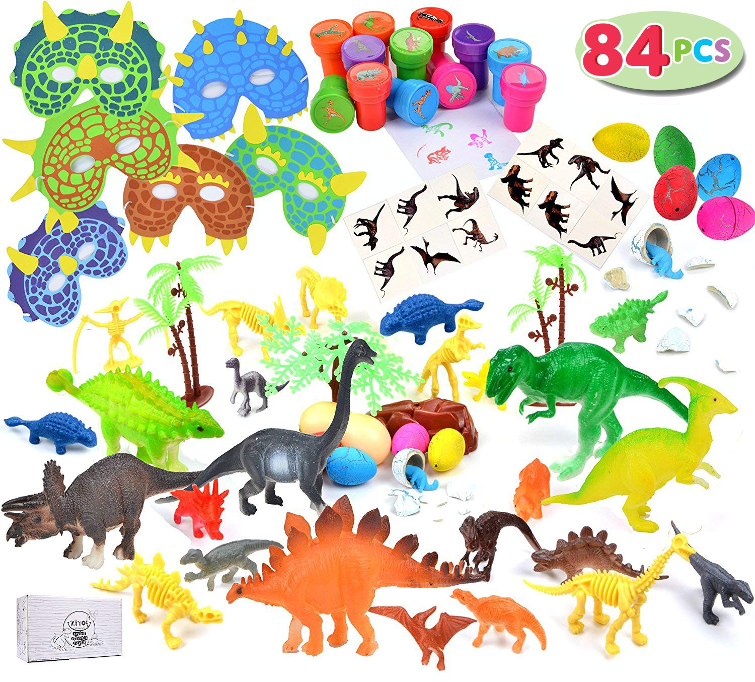7ece1323b2fc3 84 Pieces Dinosaur party favor pack perfect for party favors, carnival  prizes, office prize boxes, classroom rewards and much more.