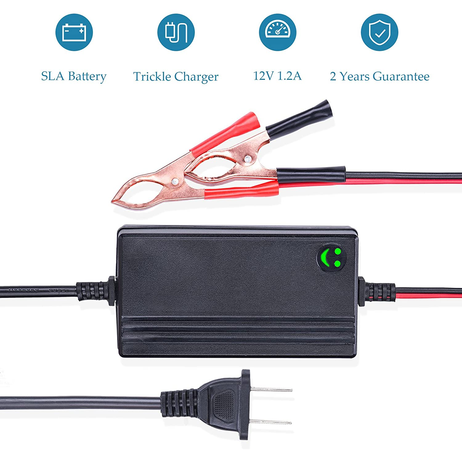 12v To 148v Automatic Lead Acid Battery Charger Sla Gel Circuit With Monitor Meter Function Maintainer 12a Trickle For Car Truck Boat Motorcycle Rv Lawn Tractor Automotive