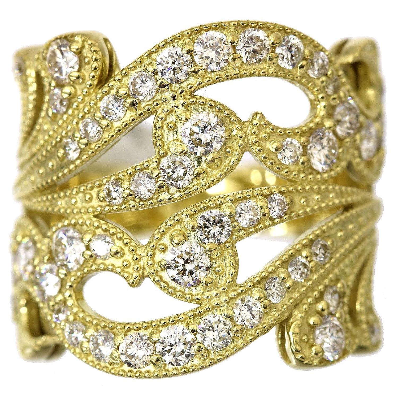 ダイヤ 1.25ct K18 リング 12.5号 18金イエローゴールド ダイア 指輪 【中古】 90047094 B07BT68L2V
