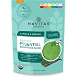 Navitas Organics Superfood Smoothie Blend, Vanilla & Greens, 8.4oz. Pouch