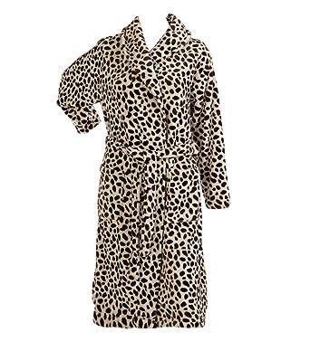 94ae3cb091c8aa XXXL DAMEN Animal Print Bademantel Luxus weichem Fleece Damen Wrap  Bademantel (verschiedene Farben)