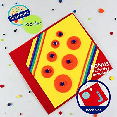 Sizing Circles Puzzle Game Quiet Book Page for the TinyFeats Activity Book and Busy Box