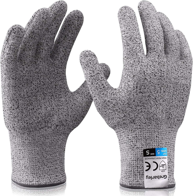 Grebarley Work Gloves, Cut Protection Gloves, Kitchen Gloves, Level 5  Protection, Food Safe, EN388 Certified, Knitted Gloves for Gardening /  Construction Site / Kitchen, Grey, 1 Pair: Amazon.de: Bekleidung