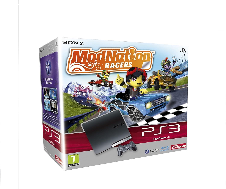 Sony Playstation 3 Slim 250 Gb Inkl Modnation Racers Amazonde