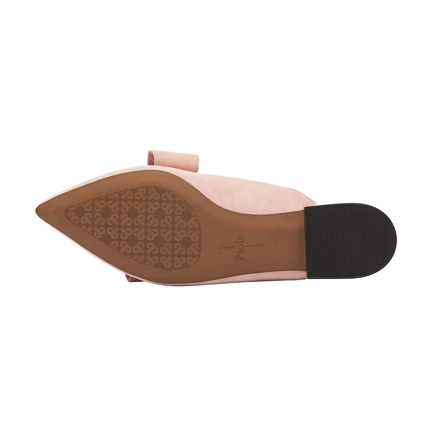 ANYA | Pointy Toe Origami Bow Slip-On Mule Flat Leather or Suede B07BC643LX 6.5 M US|Rose Suede