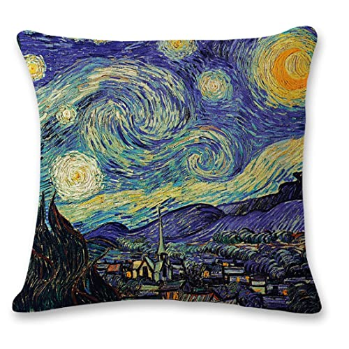 Attrayant Pillow Cases Covers,100% Cotton Linen 3D Stereoscopic Oil Painting Black  Large Tree And