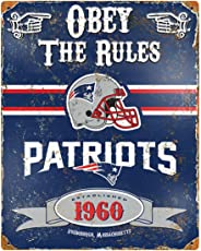 The Party Animal Patriots Vintage Metal Sign - Sports Fan Attributes (291.2, 368.3) Blue, White