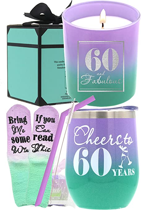 Amazon Com 60th Birthday Gifts For Women 60th Birthday Gift Ideas 60th Birthday 60 Birthday Women 60 Birthday Gift Women Birthday Gift 60 Year Old Woman 60th Birthday Decorations For Women Happy 60th