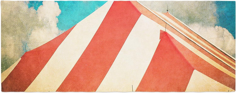 KESS InHouse Ann Barnes The Big Top Red Blue Bed Runner