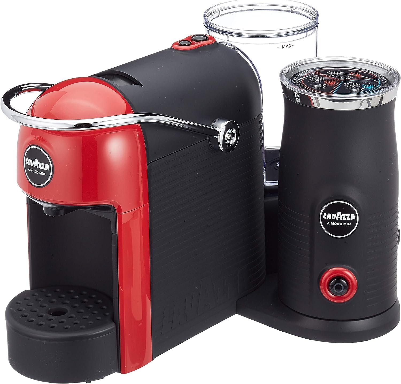 Lavazza A Modo Mio - Jolie & Milk - Cafetera con espumador de Leche Rojo: Amazon.es: Hogar