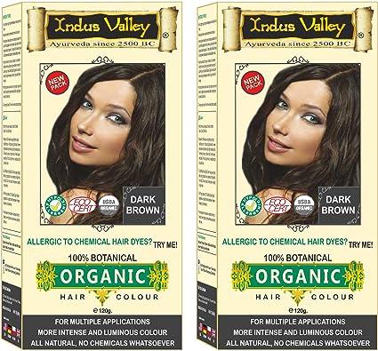 Indus Valley - Tinte de pelo orgánico 100% botánico para pieles sensibles, 2 unidades