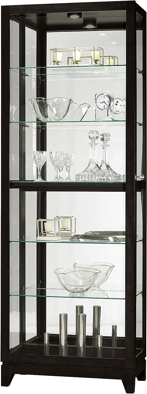 Howard Miller Luke IV Curio Shelve Clock, Black Satin
