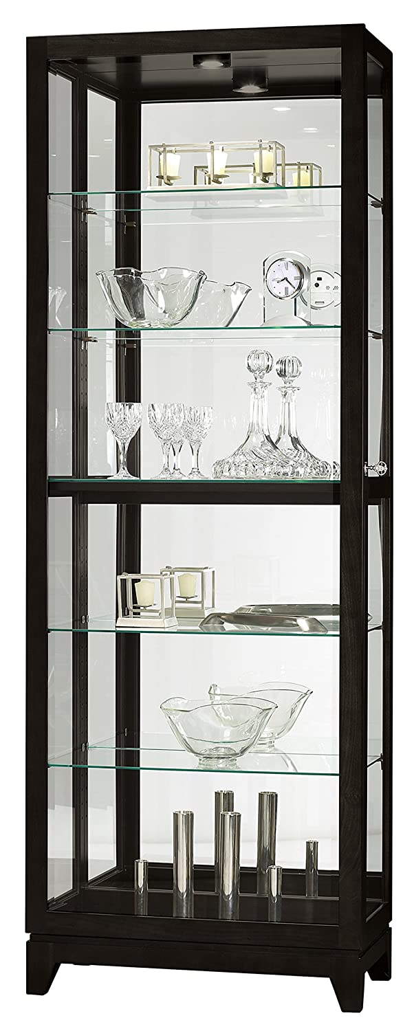 Howard Miller Luke Iv Black Satin Curio Cabinet 680629