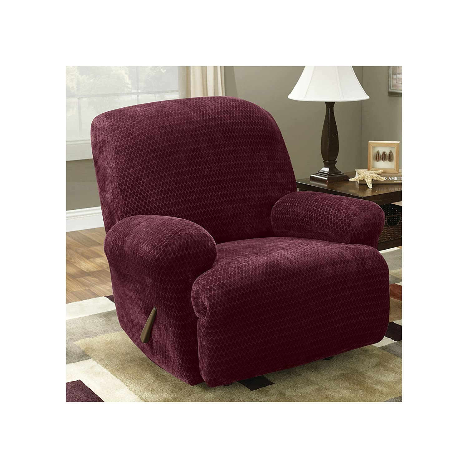 product today free overstock shipping slipcovers recliner fit home stretch slipcover plush sable sure garden