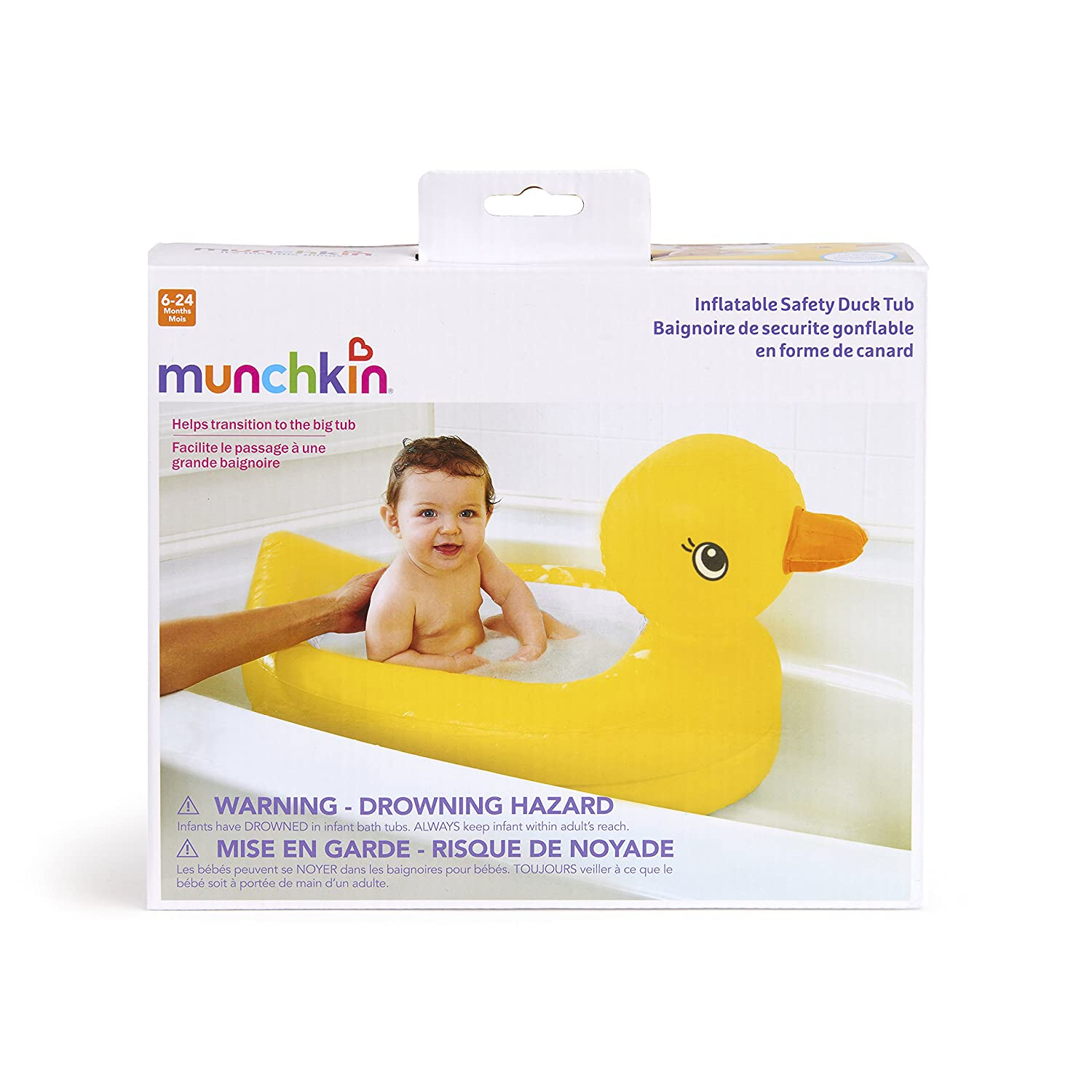 Buy Munchkin White Hot Inflatable Safety Duck Tub Online at Low ...