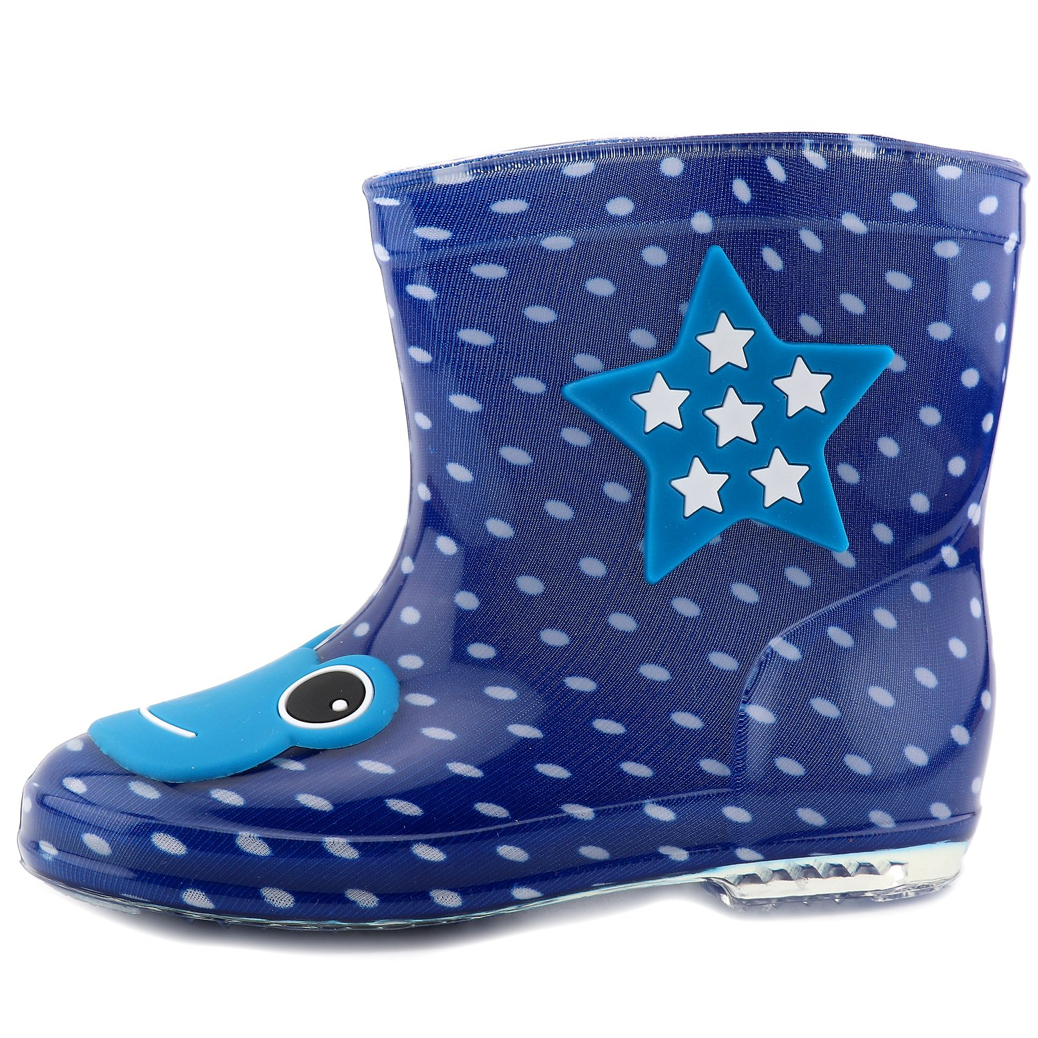 CCTWINS KIDS Toddler Girl Boy PVC Winter Warm Rain Boot for Baby Child