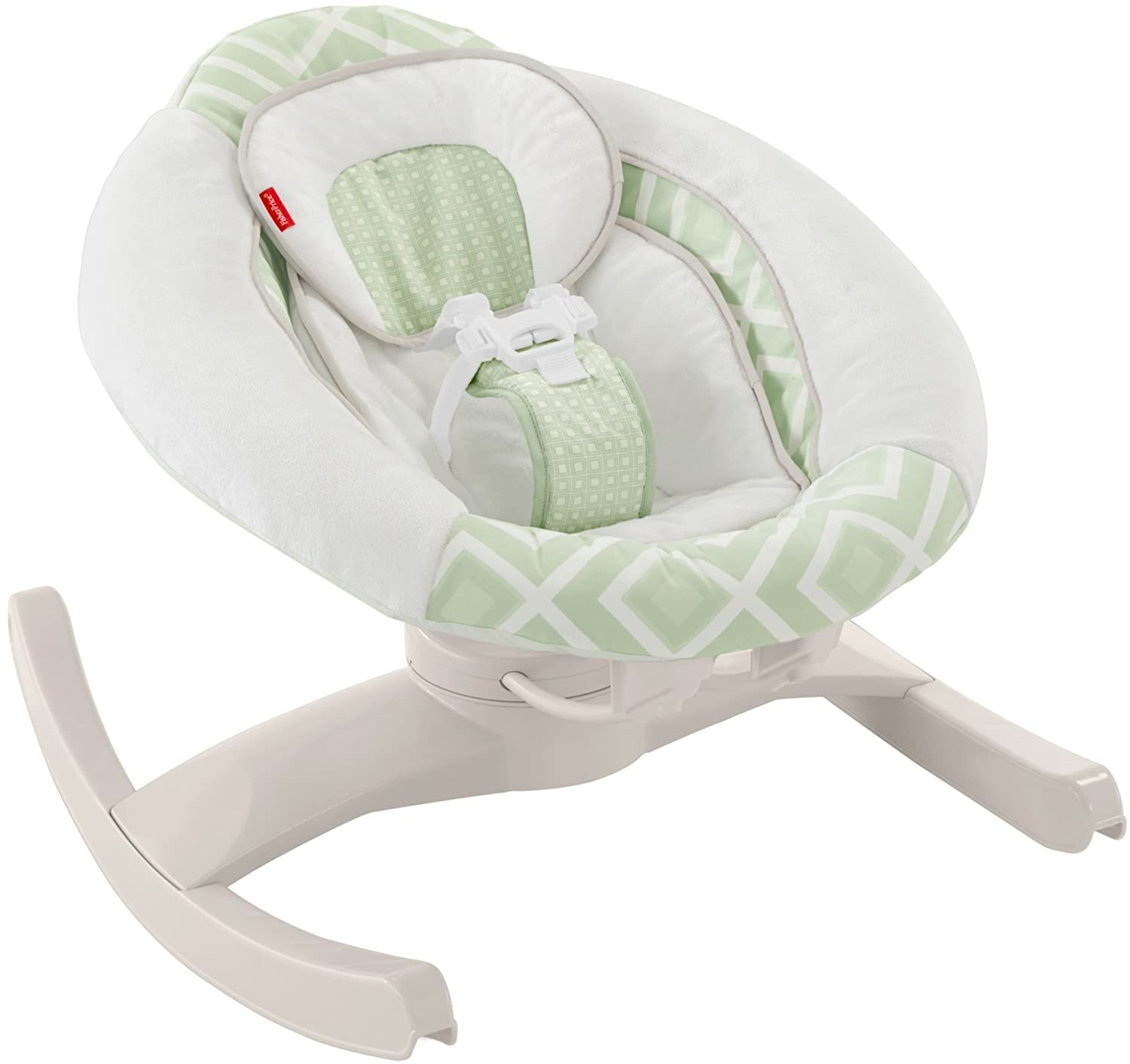 268e62e32 Amazon.com : Fisher-Price 4 Motion Cradle 'n Swing with Smart Connect,  Serene Green : Baby