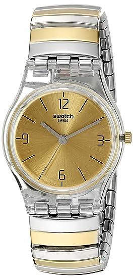 Swatch Reloj Digital de Cuarzo para Mujer con Correa de Acero Inoxidable - LK351B: Amazon.es: Relojes