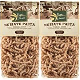 Pasta High Fiber Sugar Free - Non GMO, Whole Grain made with Tumminia, an ancient wheat from Sicily, Italy - counteracts food intolerance & decreases intestinal disorders | 1 lb (2-Pack) Papa Vince